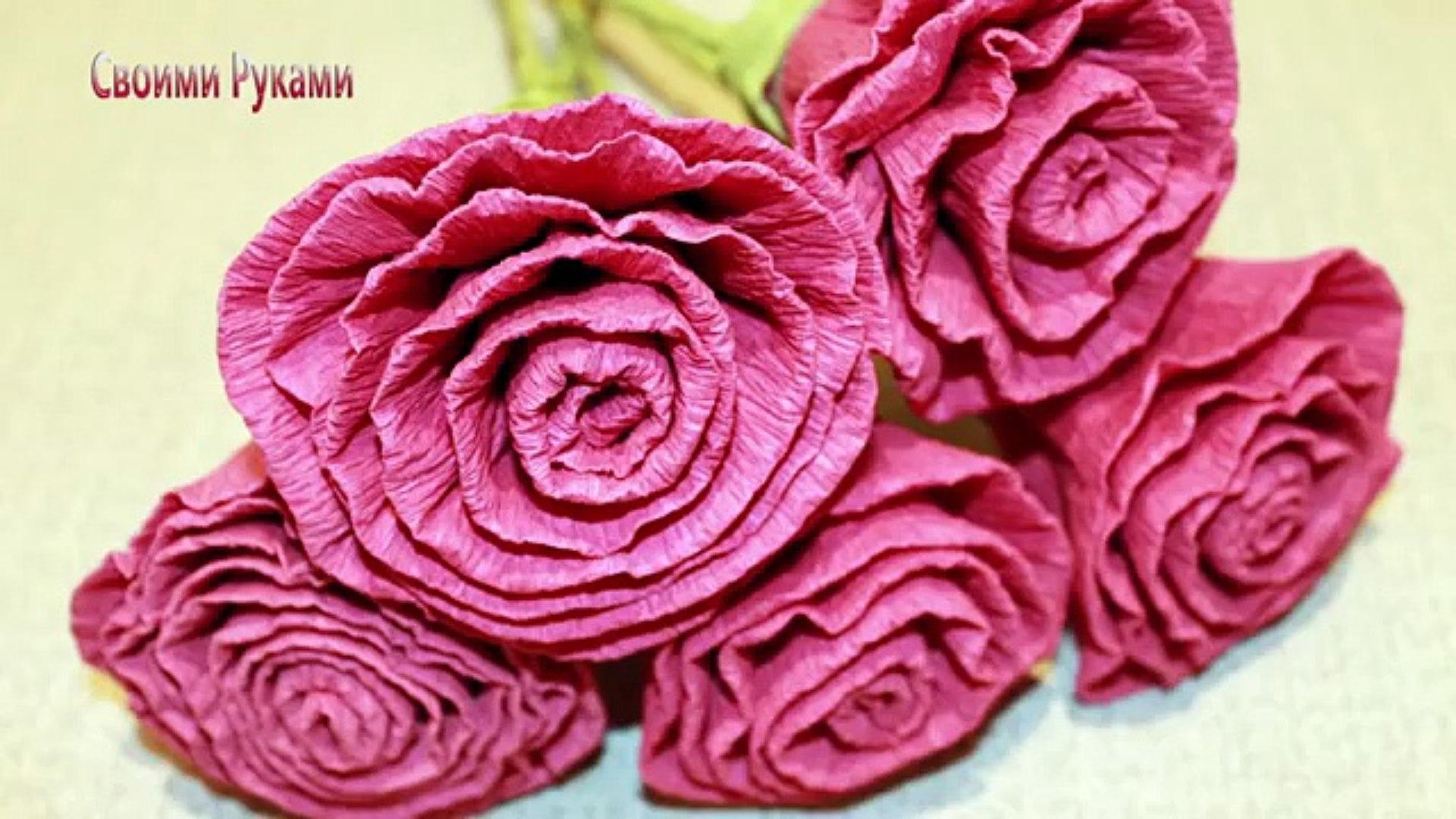 Aprende Hacer Flores De Papel Crepe Muy Faciles