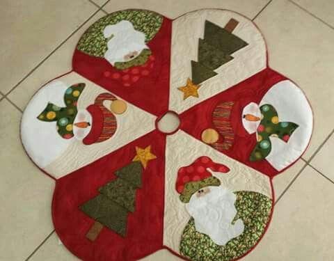 hacer pie de árbol de navidad