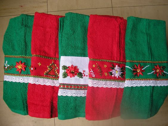 toallas navideñas para el baño