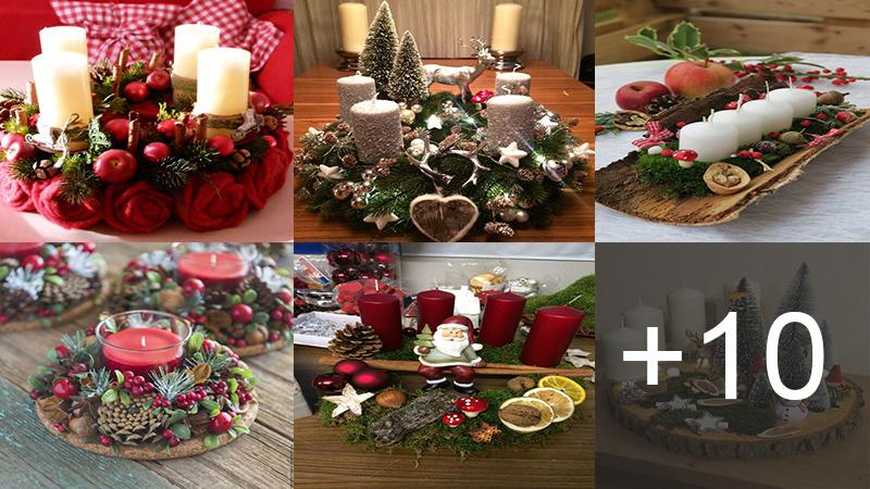 Cómo hacer centro de mesa navideño con velas
