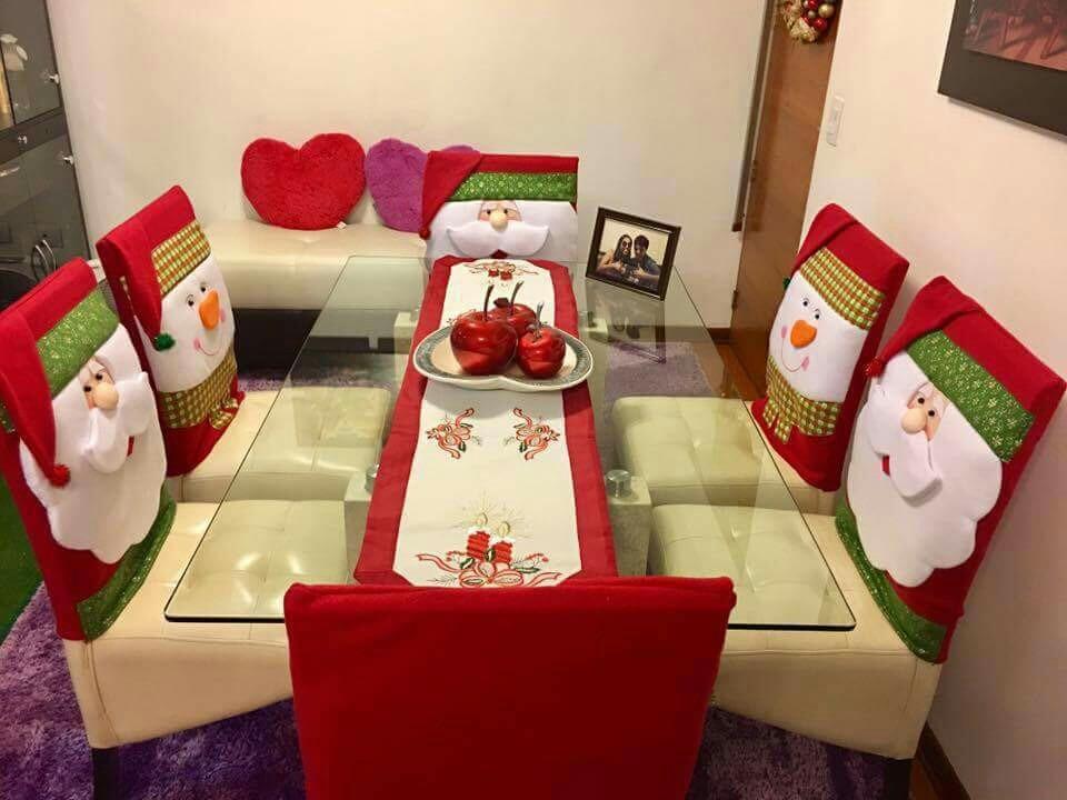 Aprende a como hacer cubre sillas navide os con patrones Como hacer un comedor