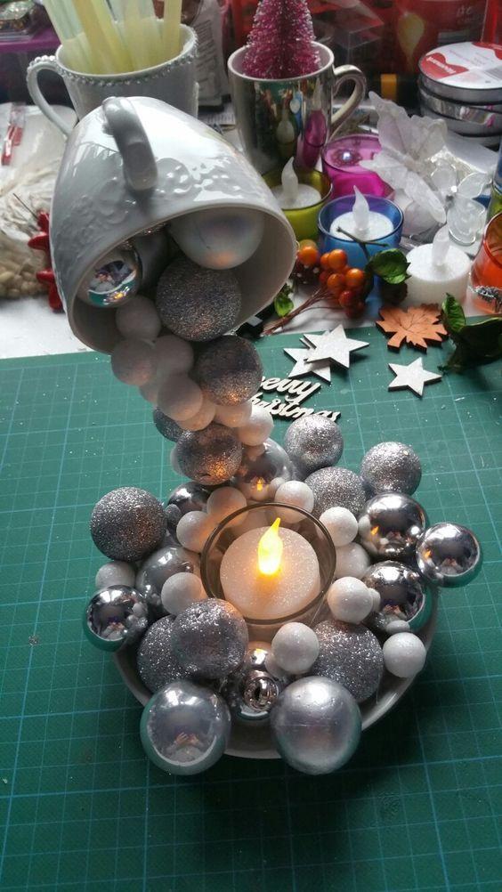 aprende hacer taza flotante navideña