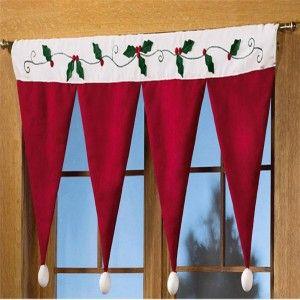 como hacer cortinas navideñas
