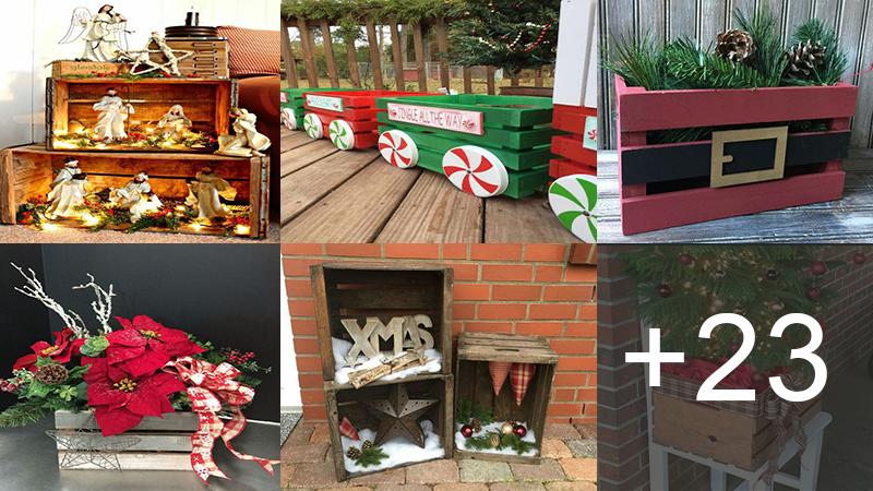 hacer manualidades navideñas con cajas de frutas