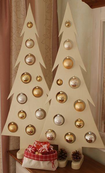 hacer árbolitos con bolas navideñas
