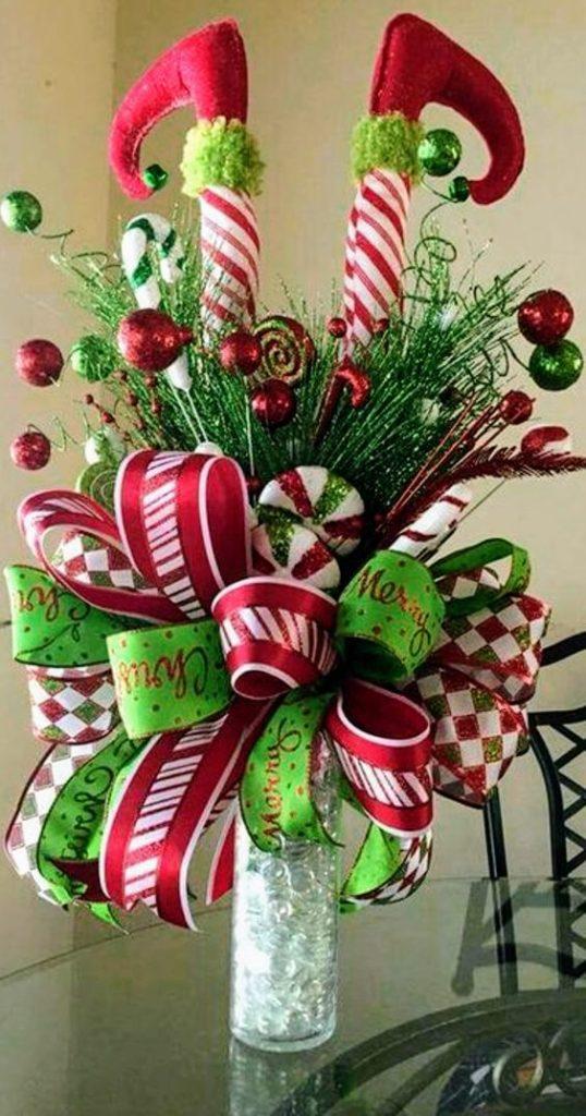 hacer centros de mesa navideños