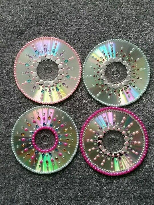 HACER PORTA VELAS NAVIDEÑAS CON CDs