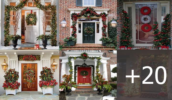 decorar la entrada de tu casa para estas navidades