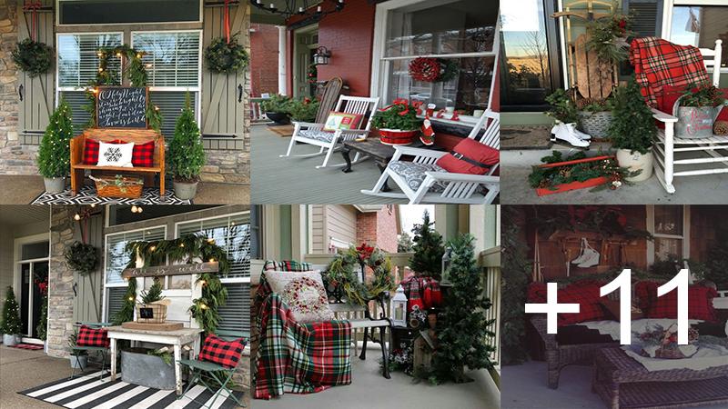 decorar la entrada de su casa para esta navidad