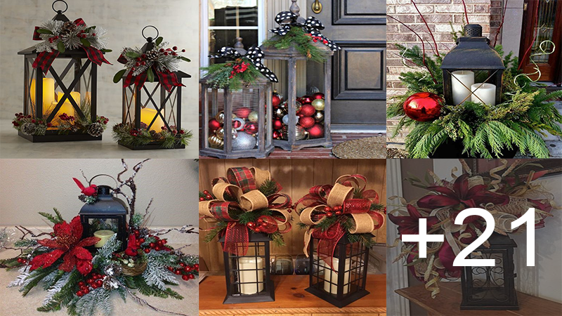 decorar lamparas navideñas para tu hogar