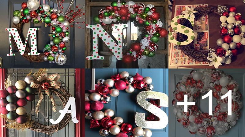 hacer corona navideña para la puerta de tu hogar