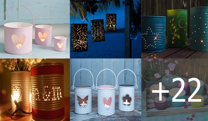 Manualidades con latas decoradas