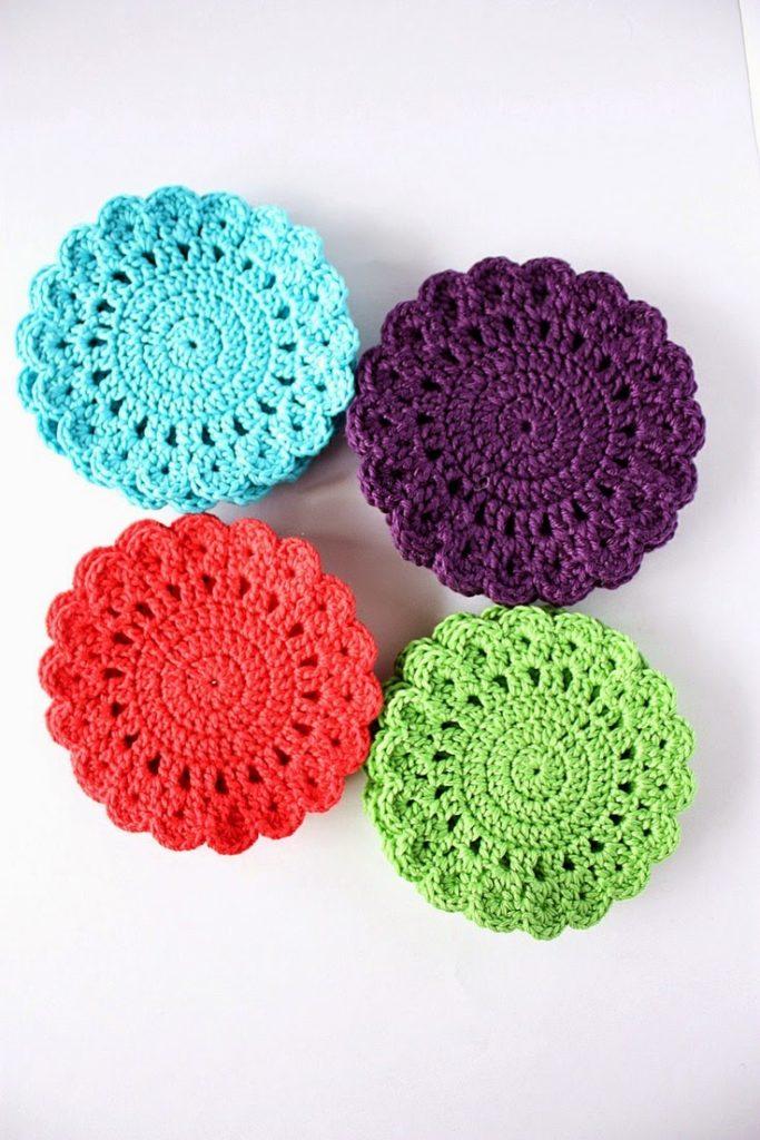 Paso A Paso Posa Vasos De Crochet Muy Coloridos Y Faciles Curso Gratis