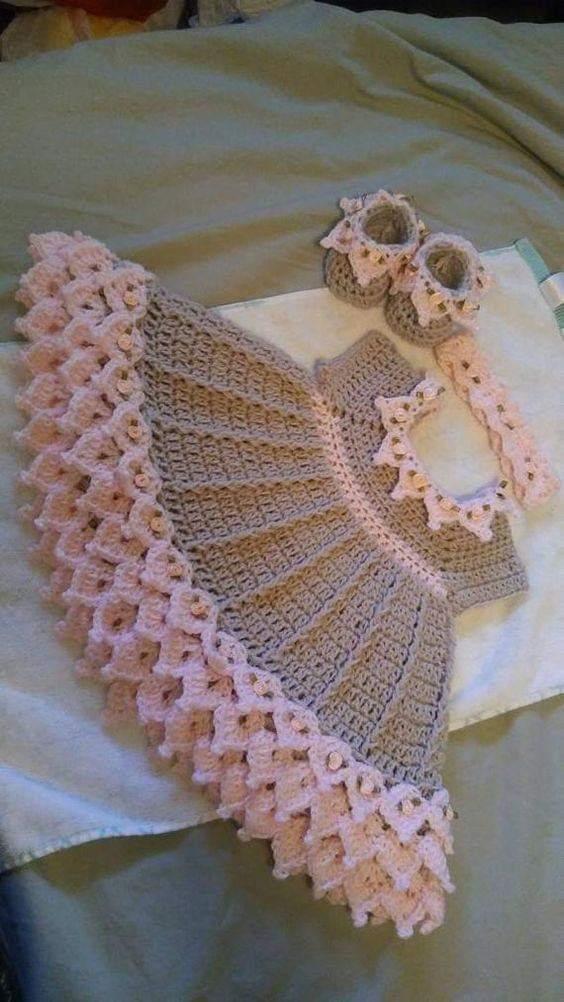 Como tejer vestidos para nina a crochet