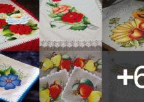aprender hacer paños pintados con borde tejido
