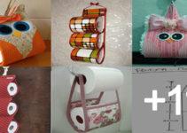 Aprende hacer porta papel de baño hechos de telaAprende hacer porta papel de baño hechos de tela