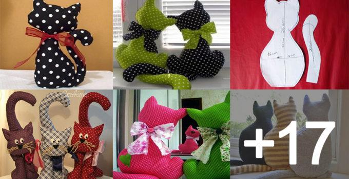 Como hacer cojines de gatos para decoración