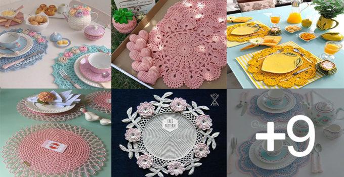 Aprende hacer posa platos tejidos muy elegantes