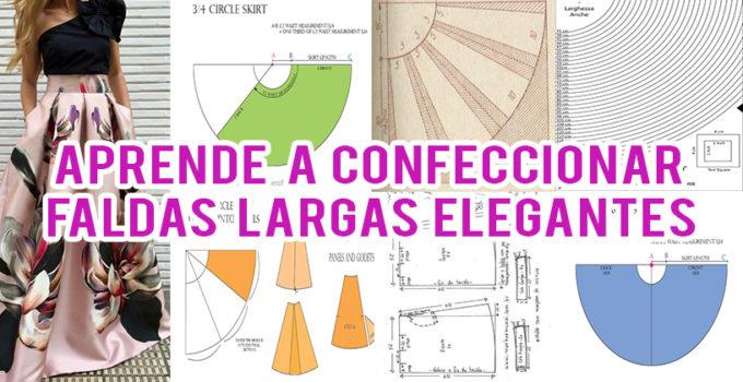 CONFECCIONAR FALDAS LARGAS ELEGANTES