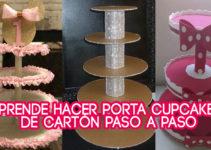 MANUALIDADES PORTA CUPCAKES DE CARTÓN