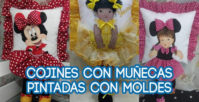 COJINES CON MUÑECA PINTADA CON MOLDES