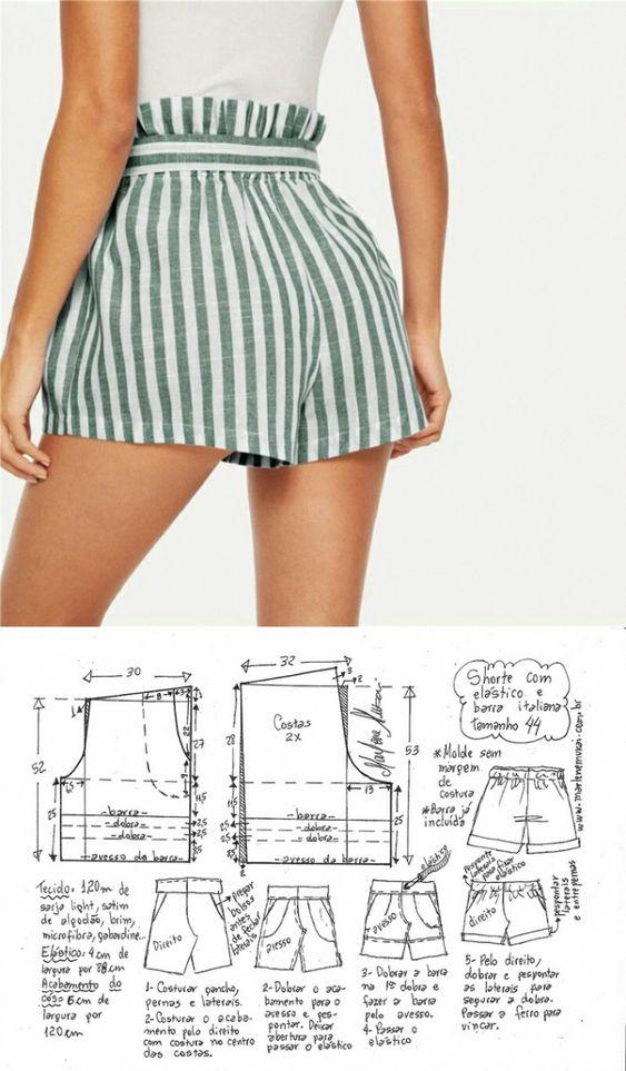 Paso A Paso Aprende A Como Hacer Shorts Con Patrones